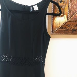 H&M Black skater cutout dress